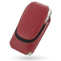 Nokia N91 Sleeve Leather Pouch Case (Large/Red) PDair Premium Hadmade Genuine Leather Protective Case Sleeve Wallet