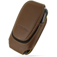 Deluxe Leather Pouch Case for Samsung B3210 CorbyTXT (Large/Brown)