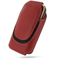Deluxe Leather Pouch Case for Samsung B7620 Giorgio Armani (Extra Large/Red)