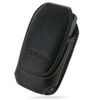 Deluxe Leather Pouch Case for Samsung C6112 (Large/Black)