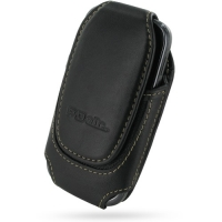 Deluxe Leather Pouch Case for Samsung Galaxy Gio GT-S5660 (Large/Black)