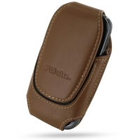 Deluxe Leather Pouch Case for Samsung Galaxy Gio GT-S5660 (Large/Brown)