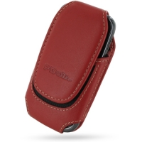 Deluxe Leather Pouch Case for Samsung Galaxy Gio GT-S5660 (Large/Red)