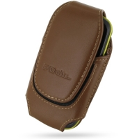 Deluxe Leather Pouch Case for Samsung Galaxy Mini GT-S5570 (Large/Brown)
