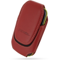 Deluxe Leather Pouch Case for Samsung Galaxy Mini GT-S5570 (Large/Red)