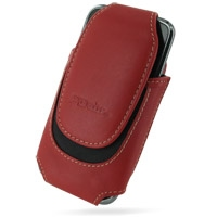 Samsung Galaxy S / Plus Sleeve Leather Pouch Case (Large/Red) PDair Premium Hadmade Genuine Leather Protective Case Sleeve Wallet