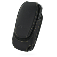Deluxe Leather Pouch Case for Samsung i7500 Galaxy (Large/Black)