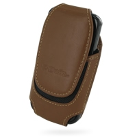 Deluxe Leather Pouch Case for Samsung i7500 Galaxy (Large/Brown)