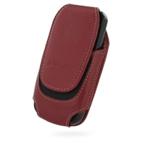 Deluxe Leather Pouch Case for Samsung i7500 Galaxy (Large/Red)