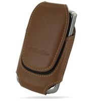 Deluxe Leather Pouch Case for Samsung Jack SGH-i637 (Large/Brown)