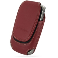 Deluxe Leather Pouch Case for Samsung Jack SGH-i637 (Large/Red)