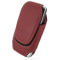 Deluxe Leather Pouch Case for Samsung SCH-i910 Omnia Specs (Large/Red)