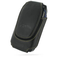 Deluxe Leather Pouch Case for Sidekick Slide (Extra Large/Black)