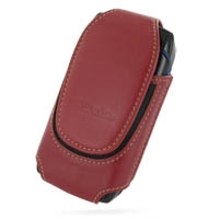 Deluxe Leather Pouch Case for Sidekick Slide (Extra Large/Red)