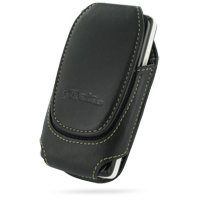 Deluxe Leather Pouch Case for Sony Ericsson W960 (Large/Black)