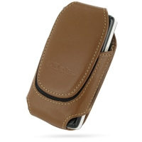 Deluxe Leather Pouch Case for Sony Ericsson W960 (Large/Brown)