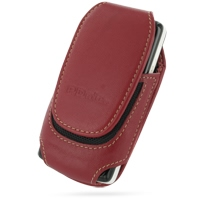 Deluxe Leather Pouch Case for Sony Ericsson W960 (Large/Red)
