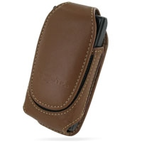 Sony Ericsson W995 Sleeve Leather Pouch Case (Medium/Brown) PDair Premium Hadmade Genuine Leather Protective Case Sleeve Wallet