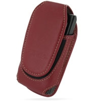 Sony Ericsson W995 Sleeve Leather Pouch Case (Large/Red) PDair Premium Hadmade Genuine Leather Protective Case Sleeve Wallet