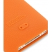 iPhone 3G 3Gs Luxury Silicone Soft Case (Orange) handmade leather case by PDair