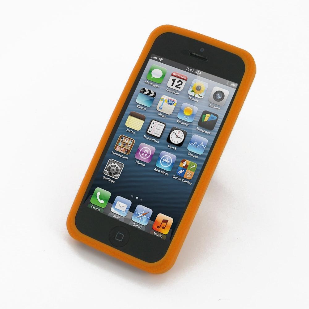 iphone 5 5s luxury silicone soft case orange pdair 10. Black Bedroom Furniture Sets. Home Design Ideas