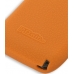 Nokia E71 Luxury Silicone Soft Case (Orange) handmade leather case by PDair