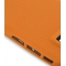 Nokia E71 Luxury Silicone Soft Case (Orange) genuine leather case by PDair