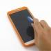 Samsung Galaxy Note 3 Luxury Silicone Soft Case (Orange) genuine leather case by PDair