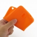 Samsung Galaxy Note 3 Luxury Silicone Soft Case (Orange) top quality leather case by PDair