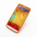Samsung Galaxy Note 3 Luxury Silicone Soft Case (Orange) custom degsined carrying case by PDair