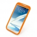 Samsung Galaxy Note 2 Luxury Silicone Soft Case (Orange) top quality leather case by PDair