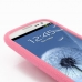 Samsung Galaxy S3 Luxury Silicone Soft Case (Pink) handmade leather case by PDair