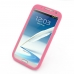 Samsung Galaxy Note 2 Luxury Silicone Soft Case (Pink) top quality leather case by PDair