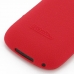 BlackBerry Curve 9220 Luxury Silicone Soft Case (Red) handmade leather case by PDair