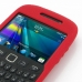 BlackBerry Curve 9220 Luxury Silicone Soft Case (Red) genuine leather case by PDair