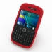 BlackBerry Curve 9220 Luxury Silicone Soft Case (Red) top quality leather case by PDair