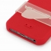 iPhone 5 5s Luxury Silicone Soft Case (Red) genuine leather case by PDair