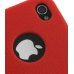 iPhone 4 4s Luxury Silicone Soft Case (Red) protective carrying case by PDair
