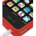 iPhone 4 4s Luxury Silicone Soft Case (Red) handmade leather case by PDair