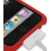 iPod Touch 3rd 2009 Luxury Silicone Soft Case (Red) genuine leather case by PDair