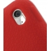 iPod Touch 4th Luxury Silicone Soft Case (Red) handmade leather case by PDair