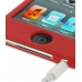 iPod Touch 4th Luxury Silicone Soft Case (Red) genuine leather case by PDair