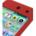 iPod Touch 4th Luxury Silicone Soft Case (Red) top quality leather case by PDair