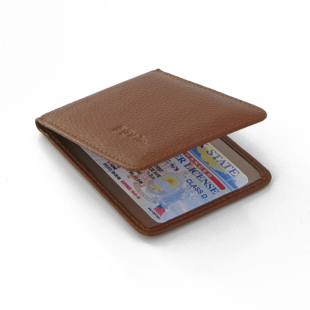 Driving License Leather Case (Brown Pebble Leather) PDair Premium Hadmade Genuine Leather Protective Case Sleeve Wallet