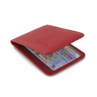 Driving License Leather Case (Red Pebble Leather) PDair Premium Hadmade Genuine Leather Protective Case Sleeve Wallet
