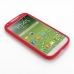 Samsung Galaxy S4 Luxury Silicone Soft Case (Red) top quality leather case by PDair