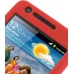 Samsung Galaxy S2 Luxury Silicone Soft Case (Red) genuine leather case by PDair