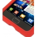Samsung Galaxy S2 Luxury Silicone Soft Case (Red) top quality leather case by PDair
