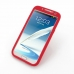 Samsung Galaxy Note 2 Luxury Silicone Soft Case (Red) top quality leather case by PDair