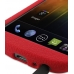 Samsung Galaxy Nexus Luxury Silicone Soft Case (Red) handmade leather case by PDair